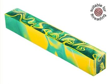 Kirinite Green Bay pen blank